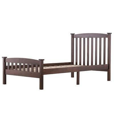 New Bed Wooden Support w/ Headboard Size Walnut