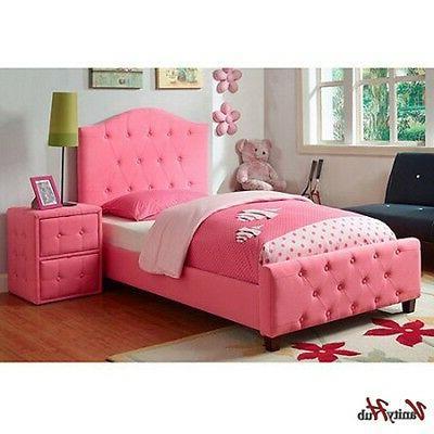 Pink Upholstered Headboard Princess