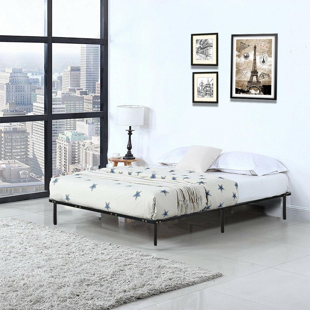 platform bed frame mattress foundation queen size