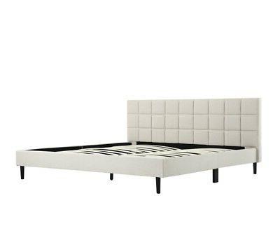 platform bed frame with headboard king size