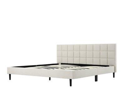 platform bed frame with headboard king size