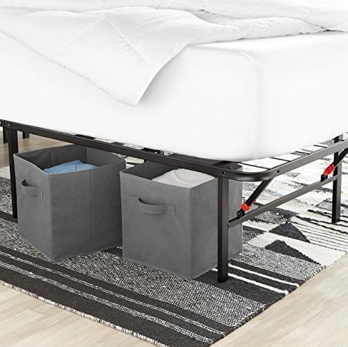 AmazonBasics Bed Frame - Foldable, Under-Bed King