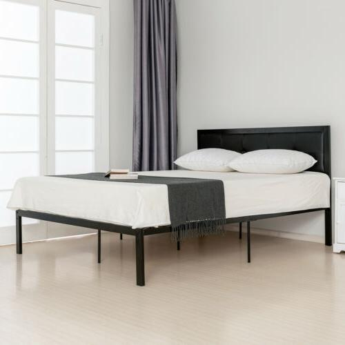 Queen Size Metal Frame PU Upholstered Furniture