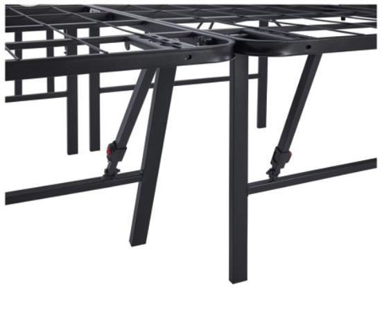 Platform Frame, Inch High Metal able Black