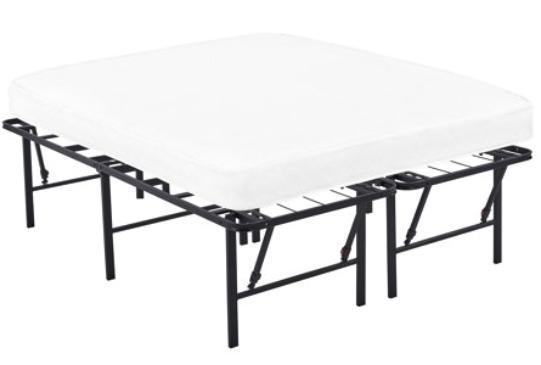 Platform Full Size Frame, 18 Inch Metal Mattress Fold able