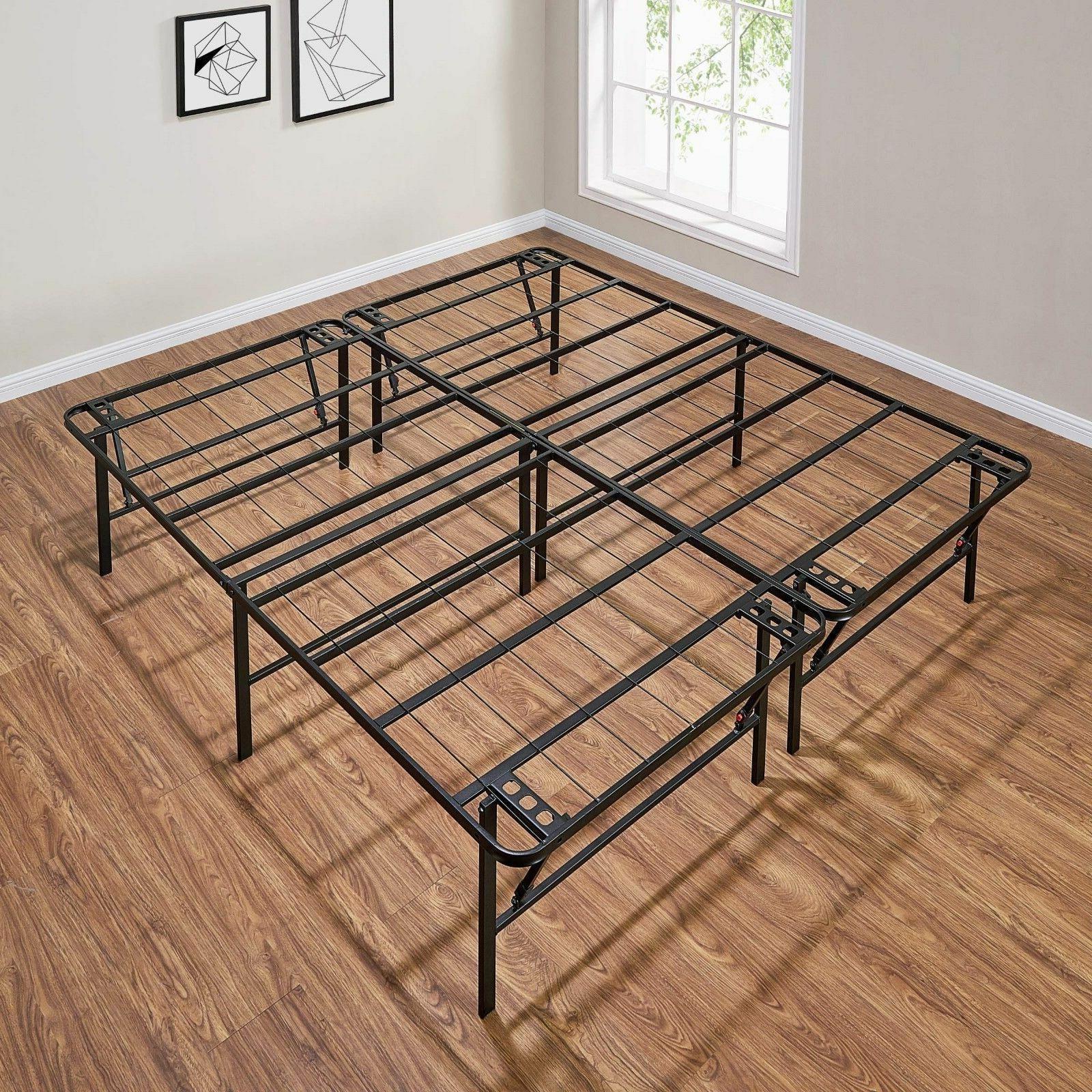 Platform King Size Bed Frame 18 Inch Foundation Metal Steel