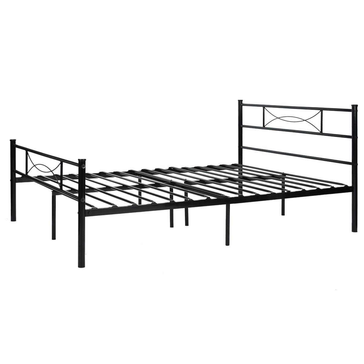 Platform Bed Frame Foundation Headboard Twin Full