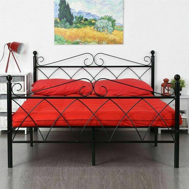 Platform Metal Bed Foundation Bedroom Twin