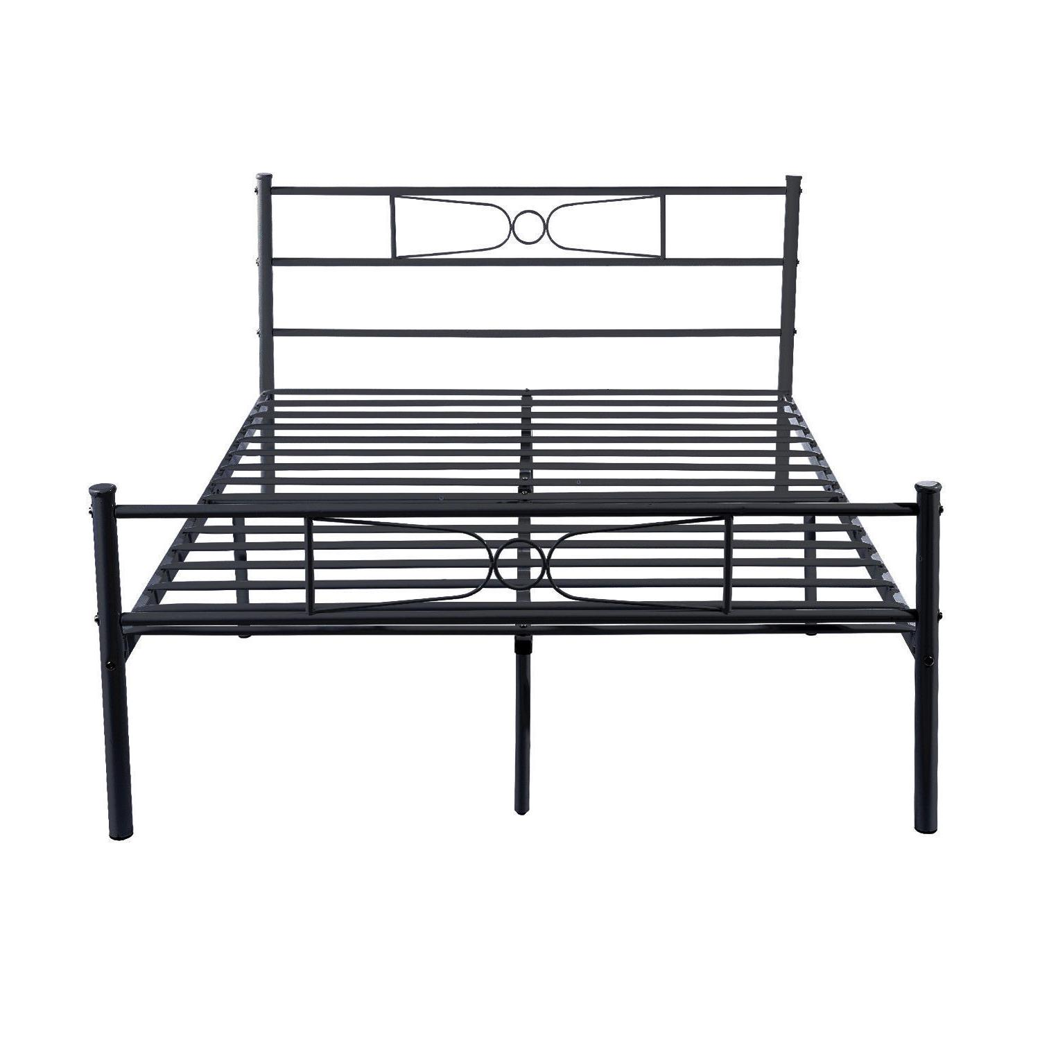 Platform Metal Bed Frame Foundation Furniture Twin Full