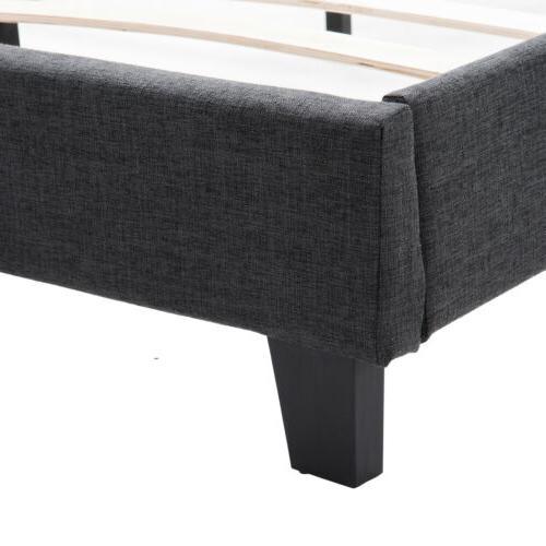 Platform Queen Bedroom Bed Headboard w/