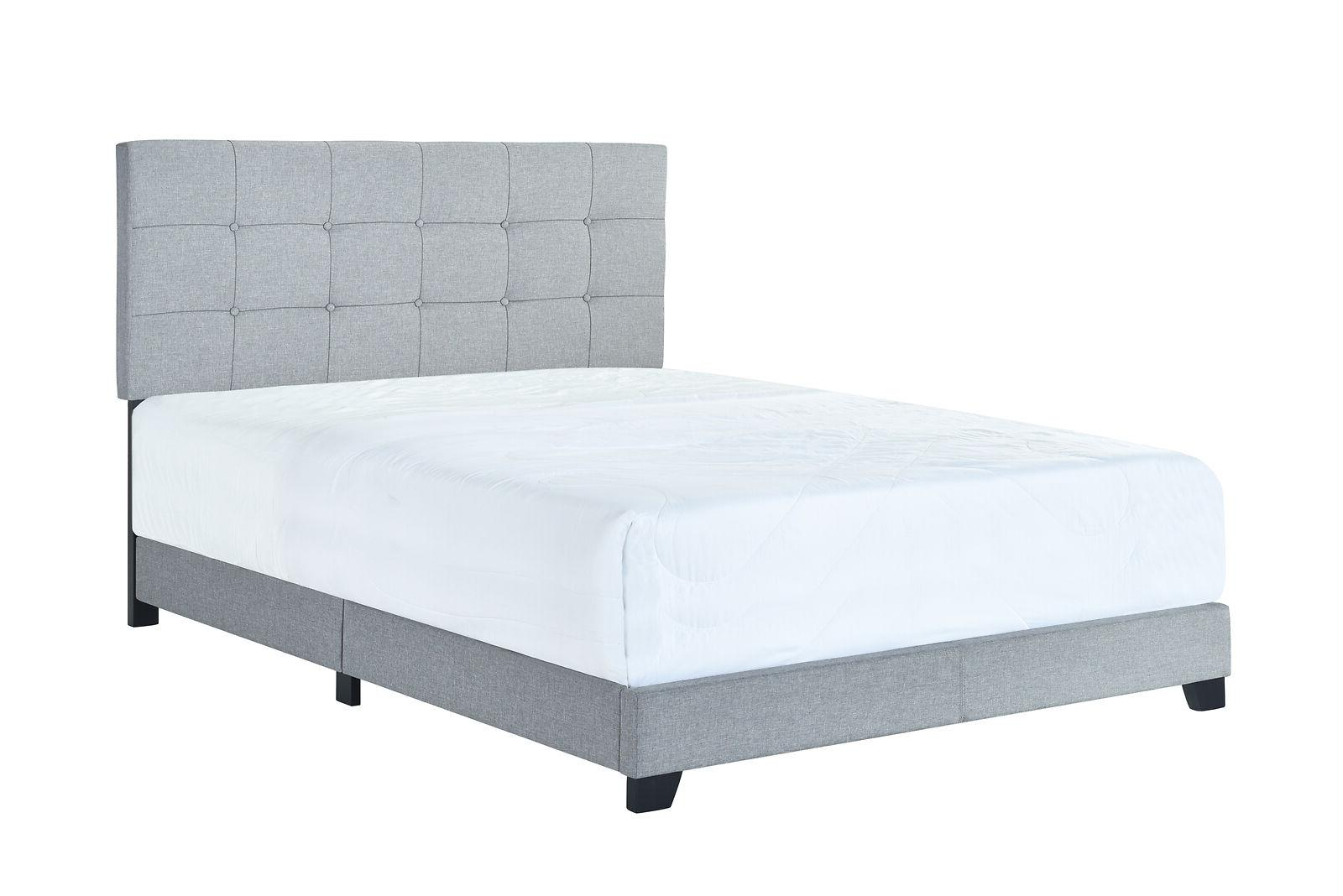 Platform Upholstered Fabric Bed King