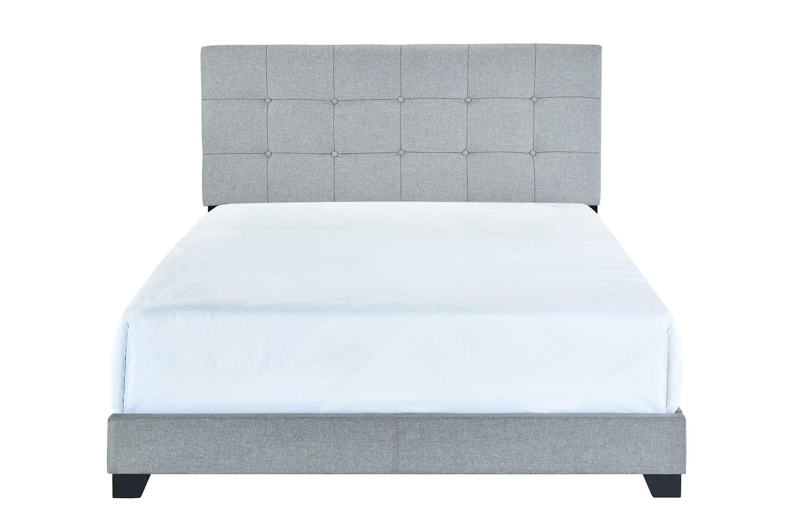 Platform Upholstered Fabric Bed King Full