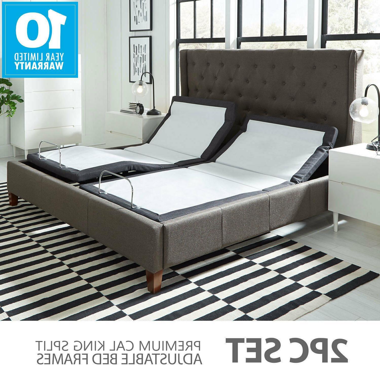 Premium Split Cal King Adjustable Bed Frame W Pillow