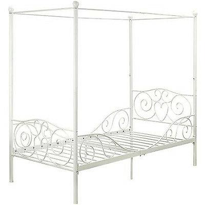 princess bed frame twin canopy