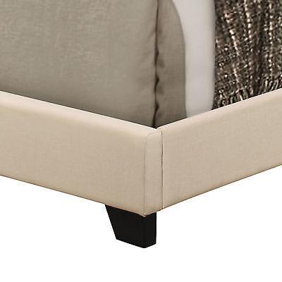 Queen Bed Headboard Platform Fabric