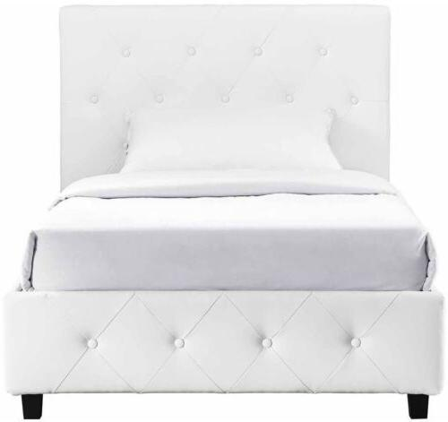 Queen White Tufted Upholstered Furniture Headboard
