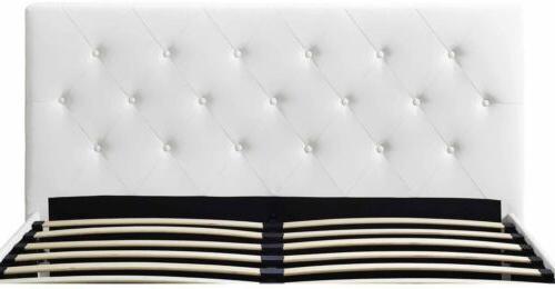 Queen Frame White Bedroom Furniture Headboard