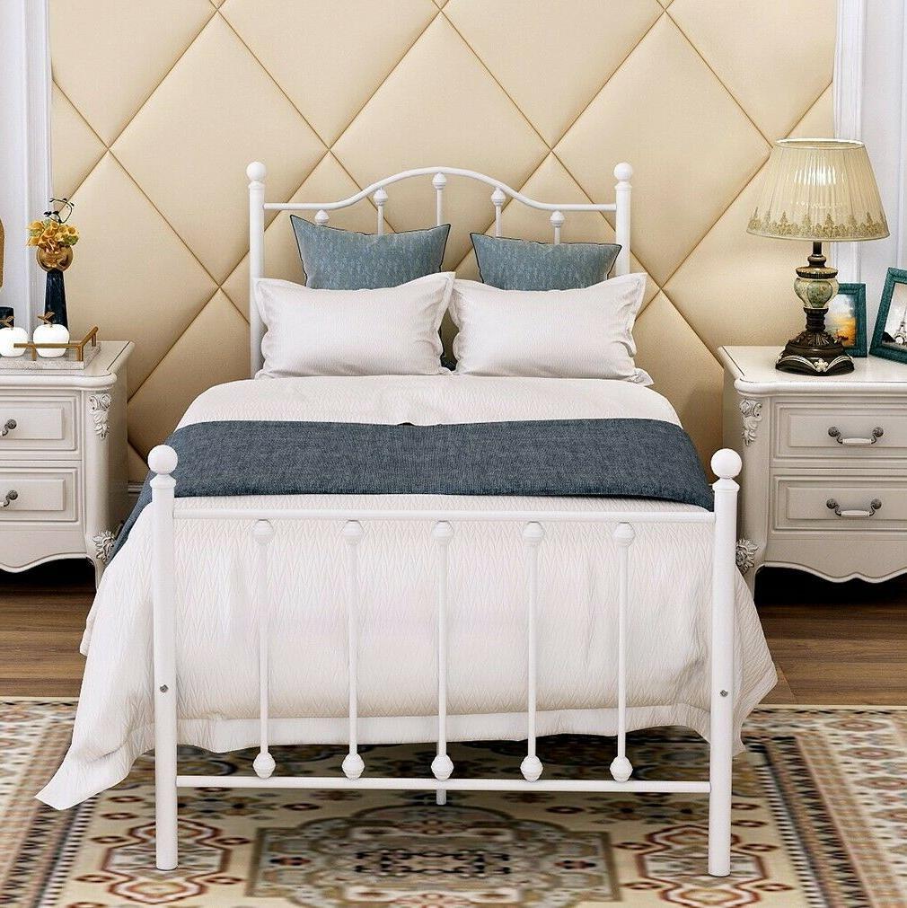 Queen/Full Bed Frame Metal Beds Platform for Kids Adult Heav