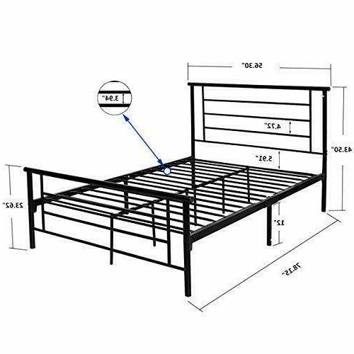 Queen/Full Platform Footboard Kids Black