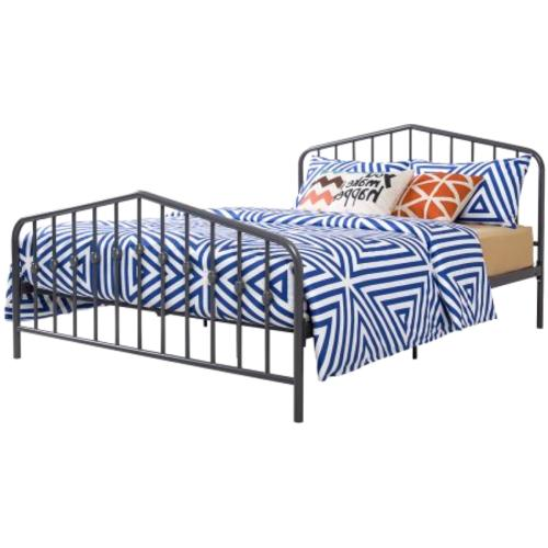 Queen Size Metal Bed Frame & Footboard New
