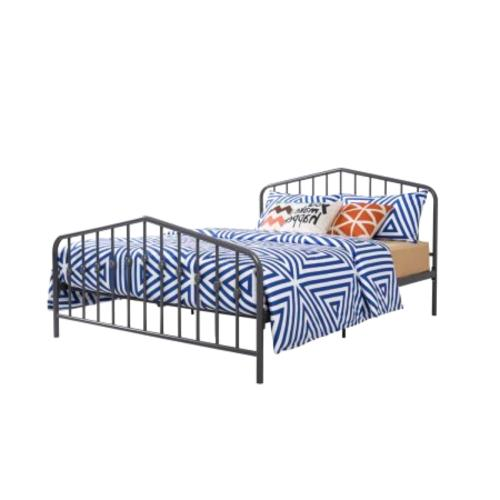 Queen Size Frame w/ Headboard & Footboard Gray Color New