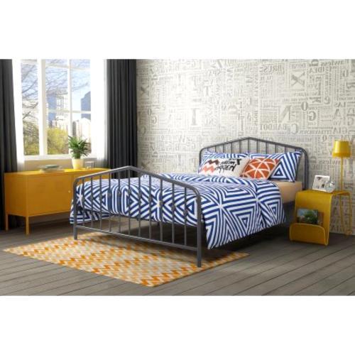 Queen Size Metal Frame Footboard Bedroom Color New