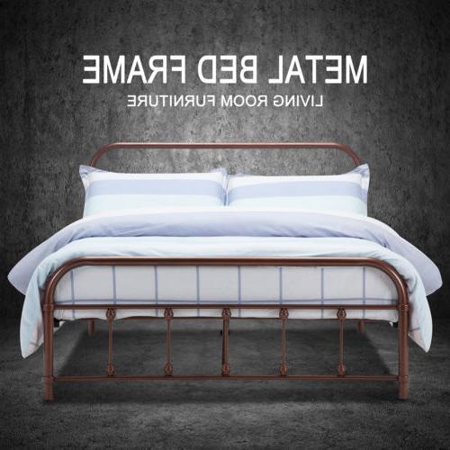 queen metal bed frame platform