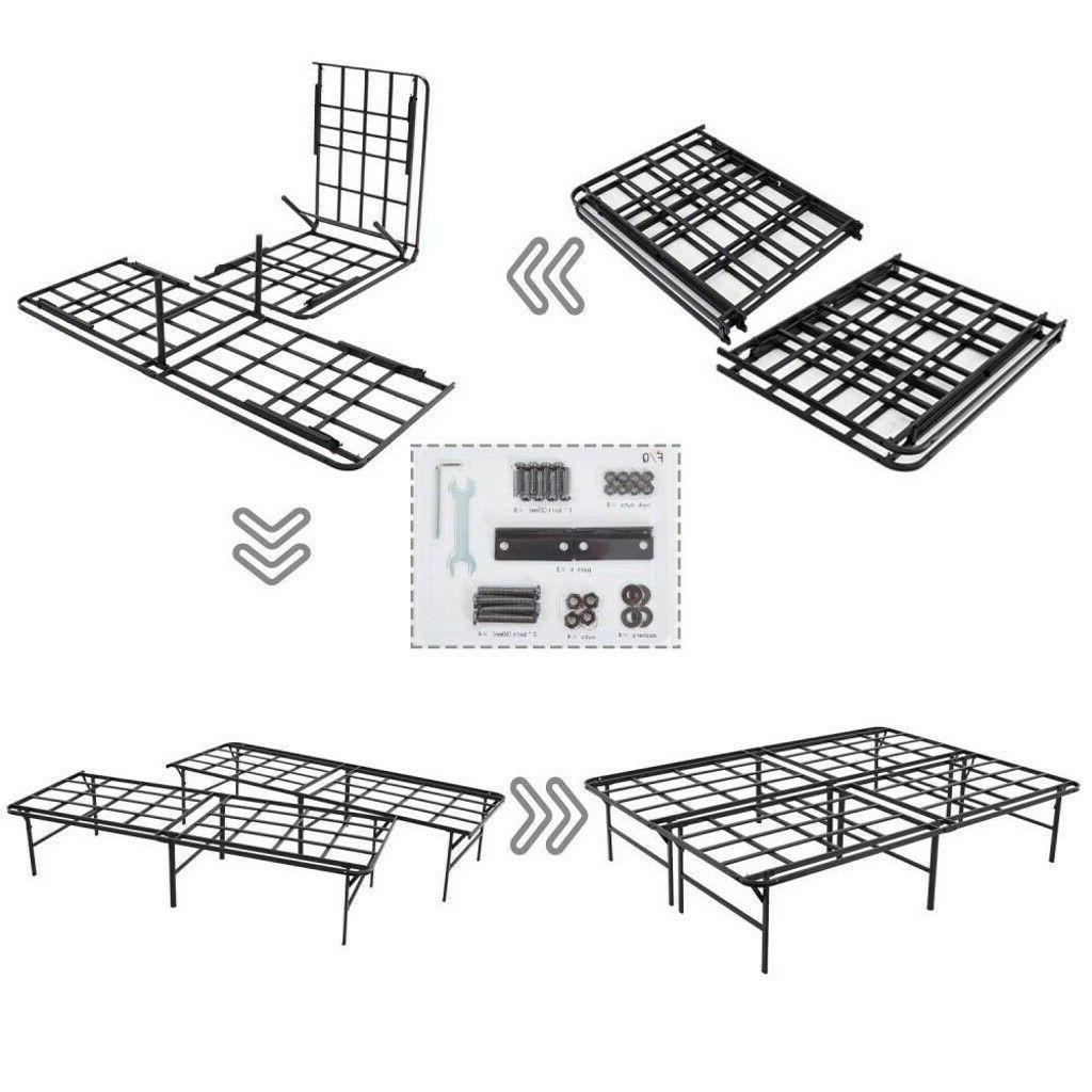 ❤Queen Size Platform Bed Duty Steel