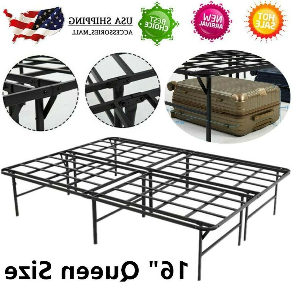 queen size 16 platform bed frame folding