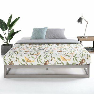Queen Size Metal Platform Bed Frame, Round - Comfort