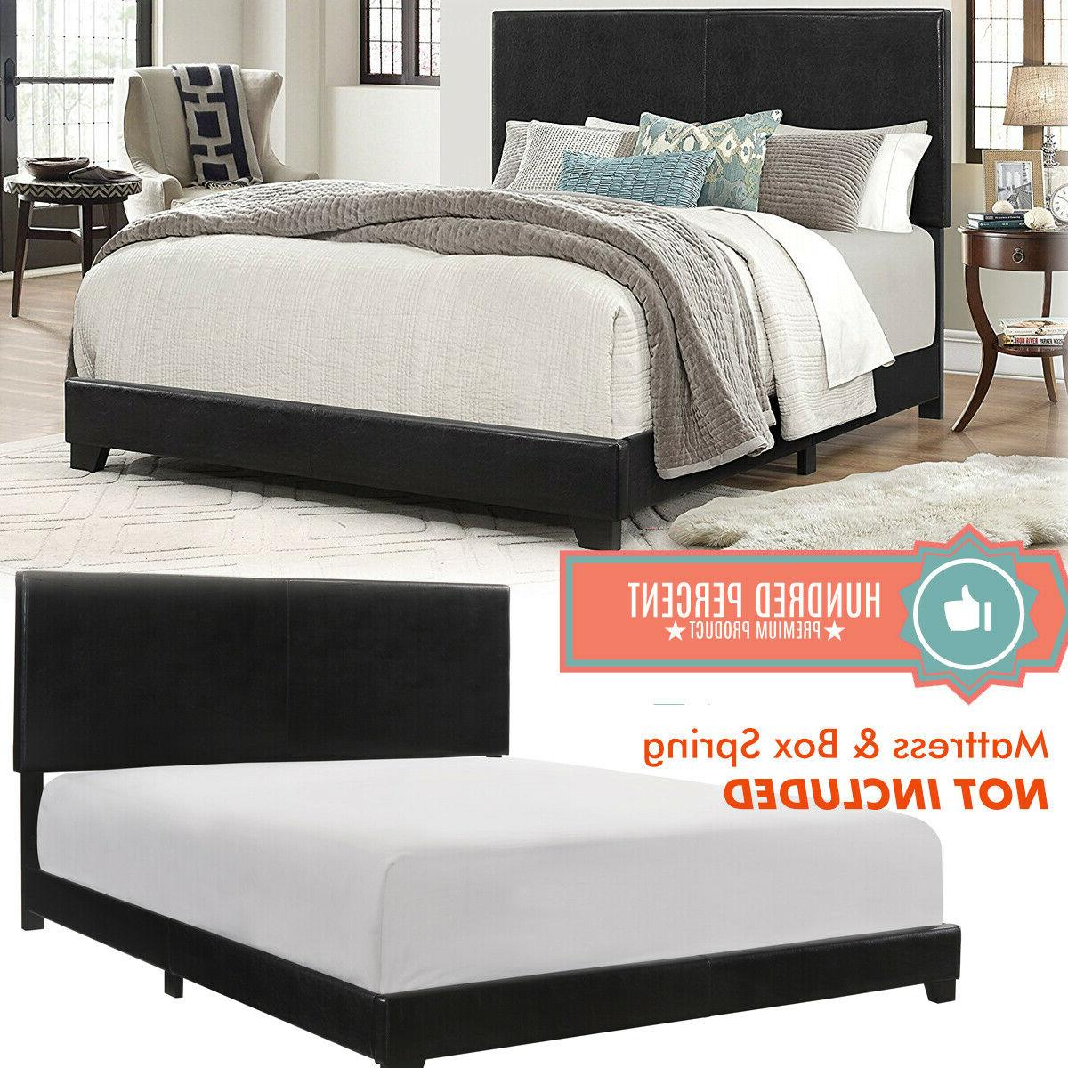 queen size bed frame platform with headboard