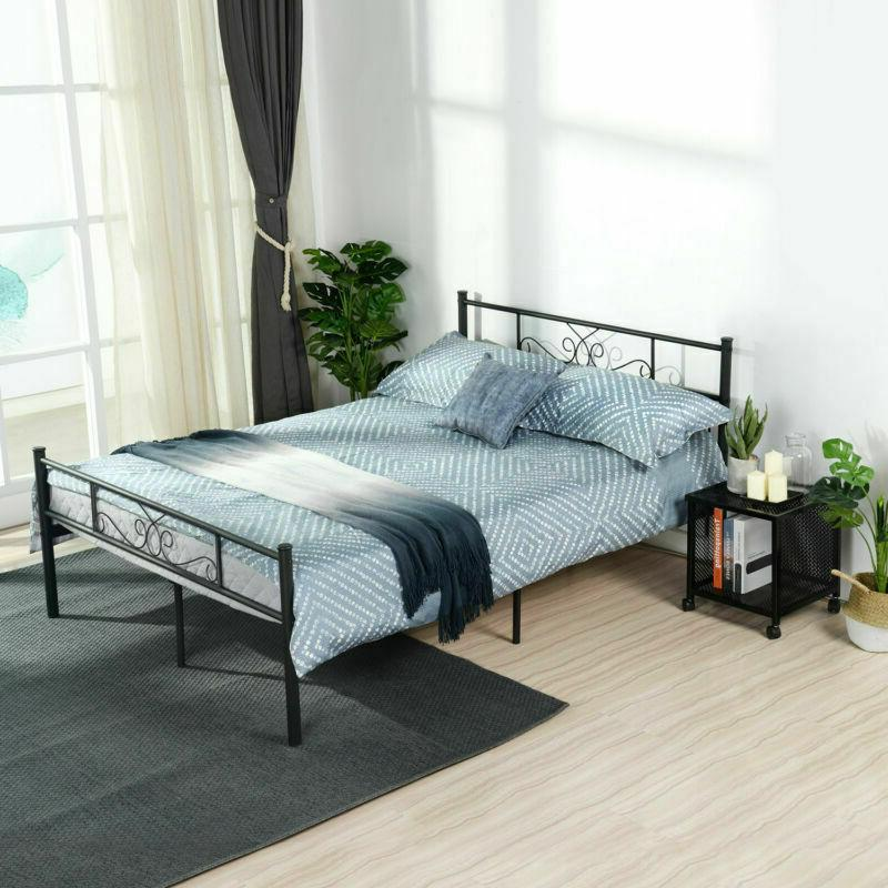 Queen Size Bed Frame Mattress Foundation with