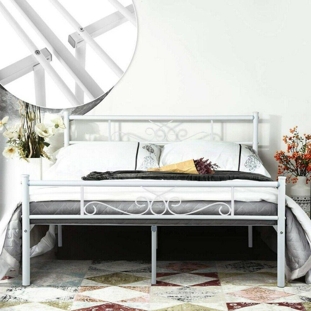 queen size metal bed frame mattress foundation