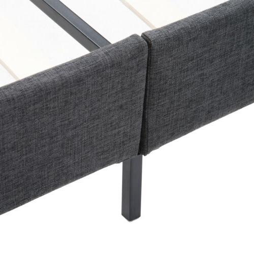 Platform Queen Bed Frame Headboard w/