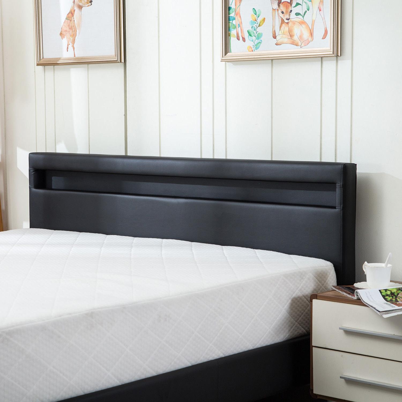 QUEEN SIZE Bed Frame Bedroom Light Headboard New