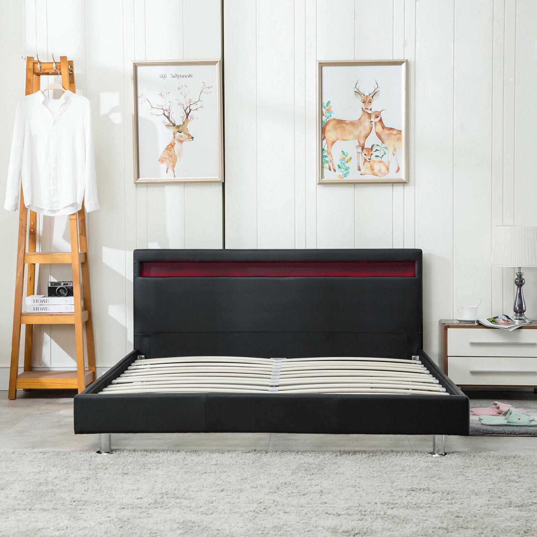 QUEEN Modern Bed Light Headboard