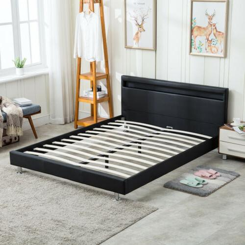 queen size modern bed frame bedroom platform