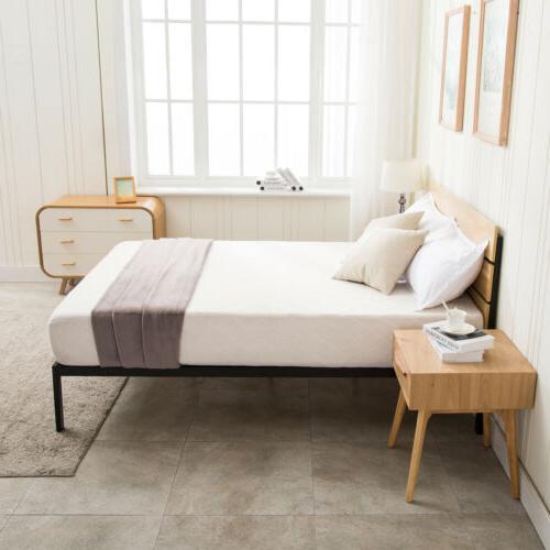 Queen Frame Wooden Headboard Slats Bedroom