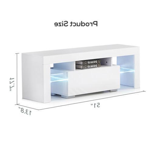 Modern Unit Console w/ LED Shelves