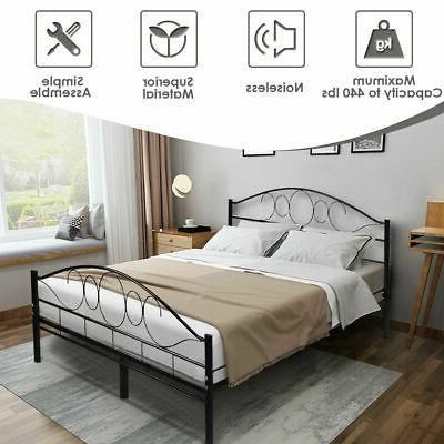 Queen Size Frame Slats Headboard Bedroom