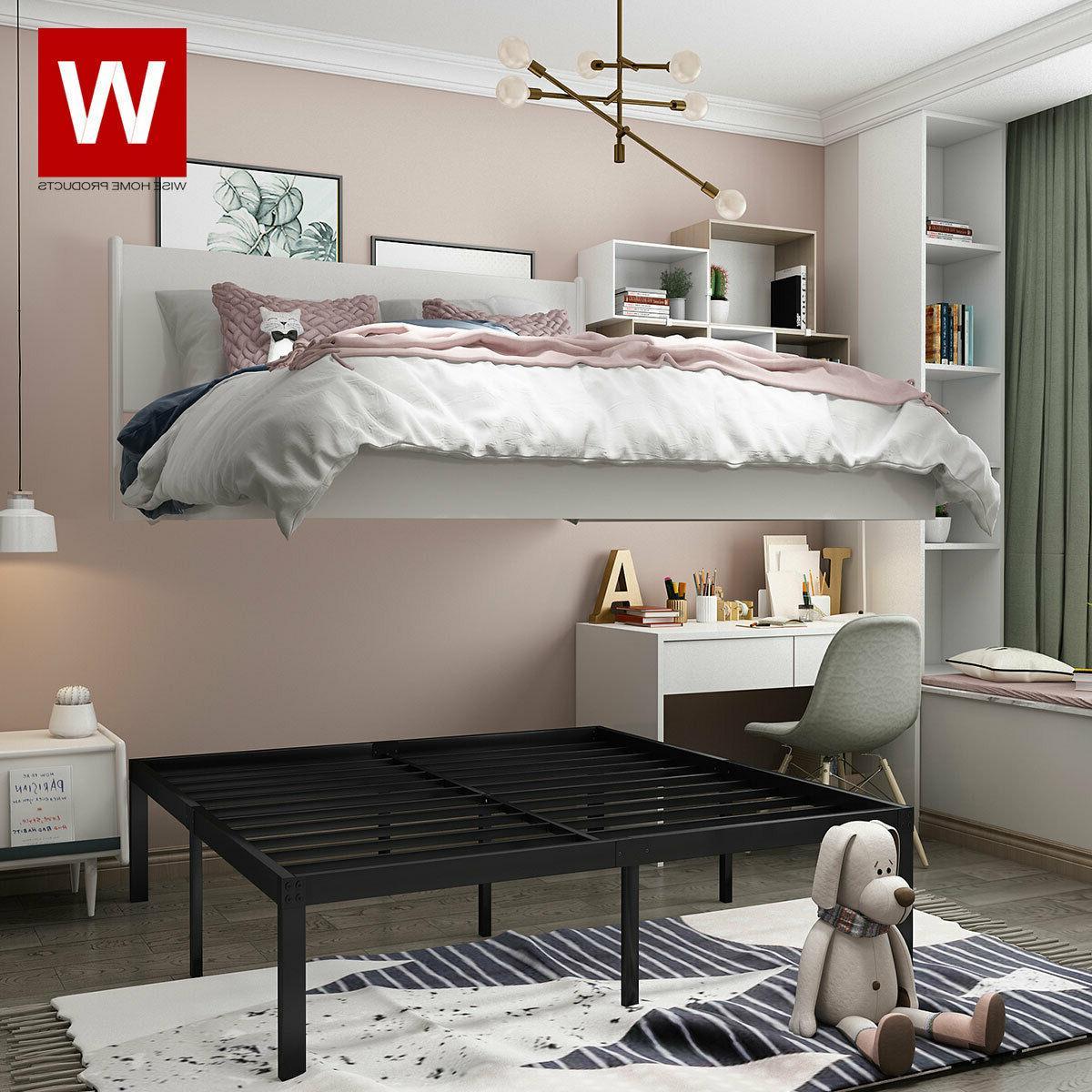Queen Steel Bed Frame Metal Platform Beds with Heavy Duty St