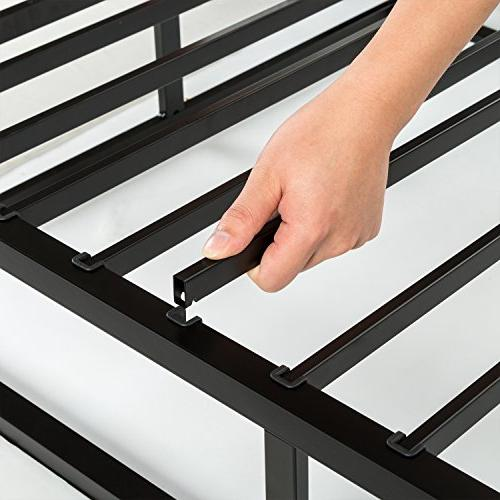 Zinus Quick Lock High Profile Smart Box Mattress Foundation Strong Steel Structure Assembly, Full