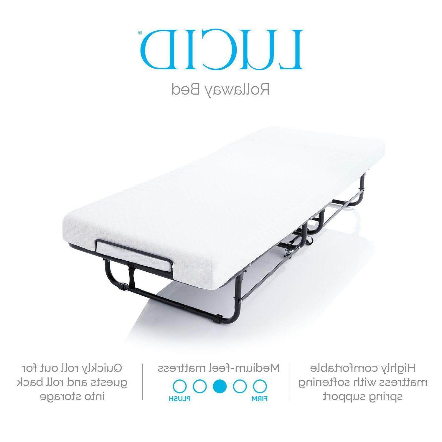LUCID Bed with Foam - XL Sizes