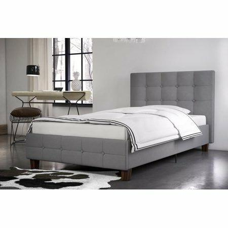 Rose Linen Platform Bed, Multiple &