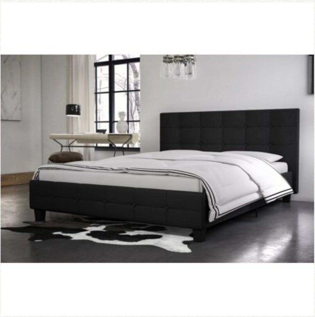 Rose Linen Tufted Platform Bed, Sizes &