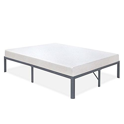 Olee Steel Non-slip Support Bed T-2000 14BF13Q, H, Queen, Grey