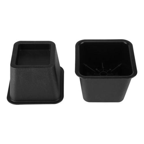 Set Anti-Slip Home Table Riser Black Duty