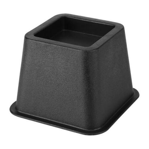 Set of Anti-Slip Furniture Bed Table Riser Black Duty