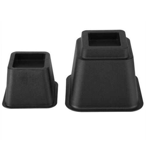 Set of Anti-Slip Furniture Bed Table Black Heavy Duty