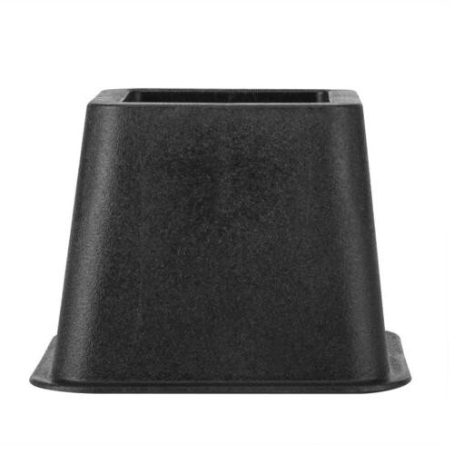 Set of 8 Anti-Slip Home Bed Table Black
